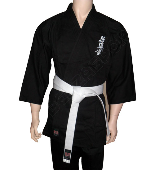 Kyokushin Karate Dogi Heavy Weight Black Benza Sports