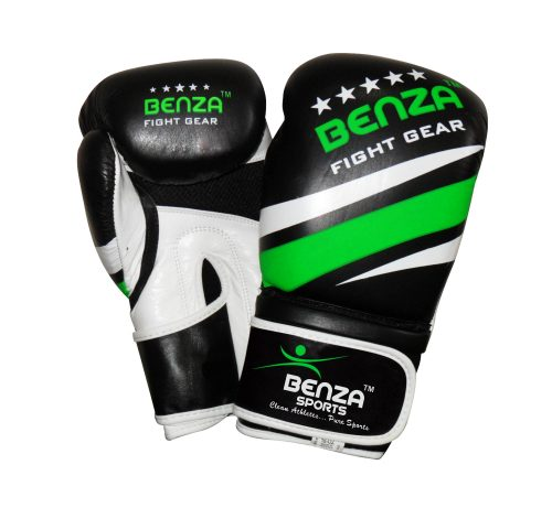 Authentic BENZA Fighter Cowhide leather boxing glove with gel padding