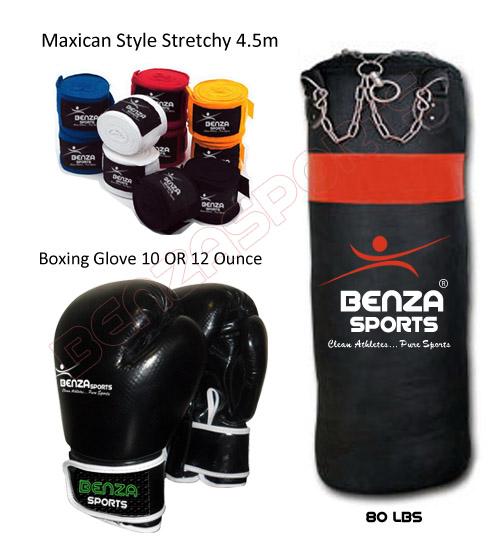 Heavy Bag Boxing Glove Amp Hand Wrap Martial Arts