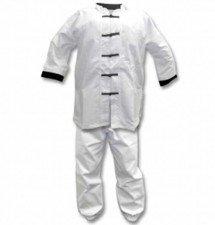 student kung fu white uniform