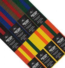 Karate Taekwondo Color with Color Stripe Rank Belts - 1