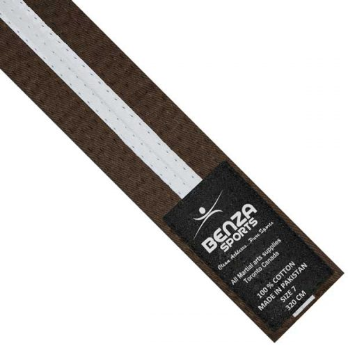 Brown with white stripe belt