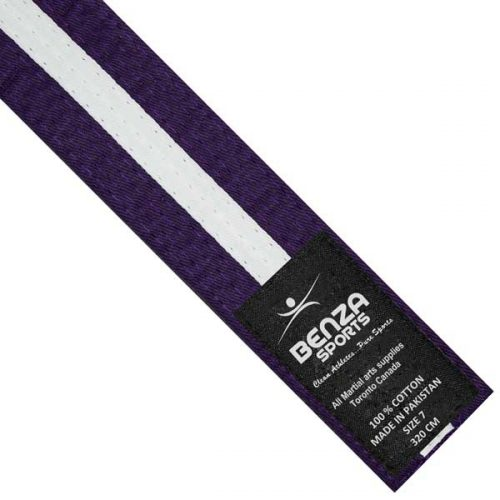 Purple with white stripe belt