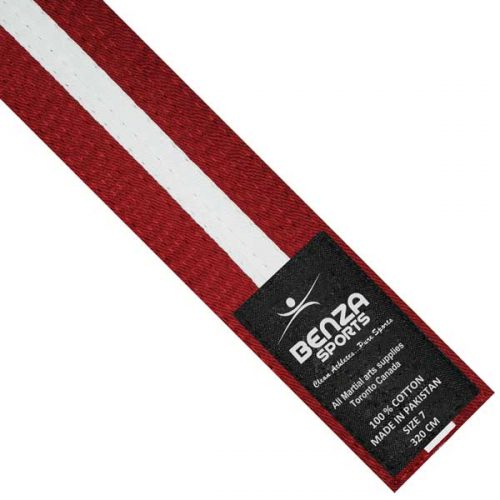 Red with white stripe belt