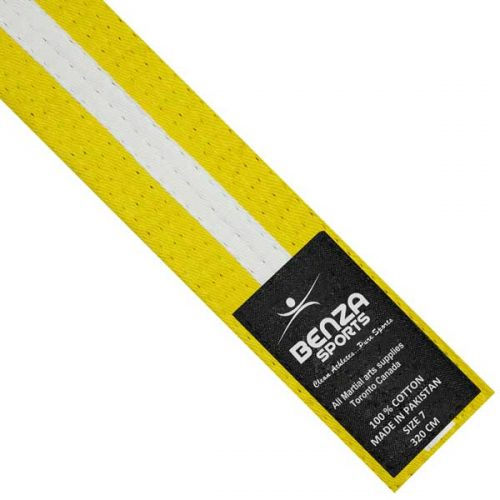 Karate Taekwondo White Stripe Belt
