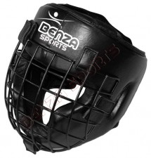 LEATHER HEAD GEAR,GUARD WITH STEEL CAGE TORONTO, MARKHAM