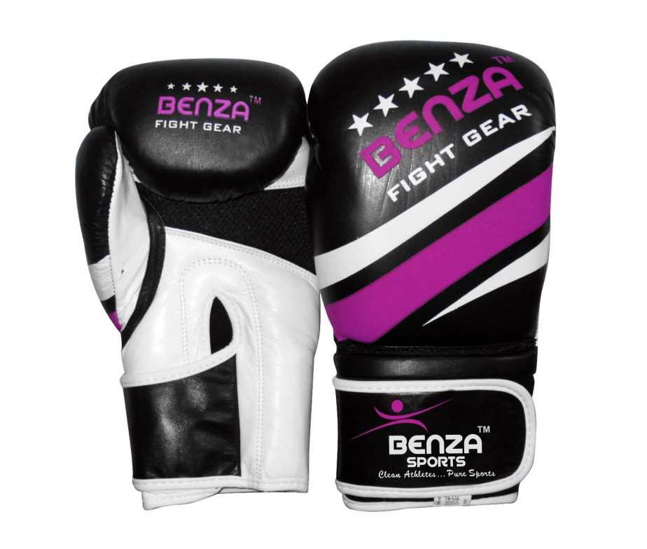Lill Sport Gloves Canada: Authentic BENZA Fighter Cowhide Leather Boxing Glove With